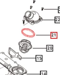 SEAL FOR THERMOSTAT ON 2655 MAHINDRA TRACTOR