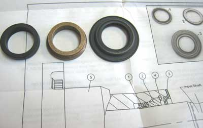 SEAL KIT FOR HYDROSTATIC STEERING BOX ON 3505 MAHINDRA TRACTOR (HG500007)