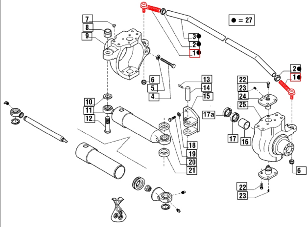 Tie Rod End For Wheel Drive Mahindra Tractor on Hydraulic Cylinder Exploded Diagram