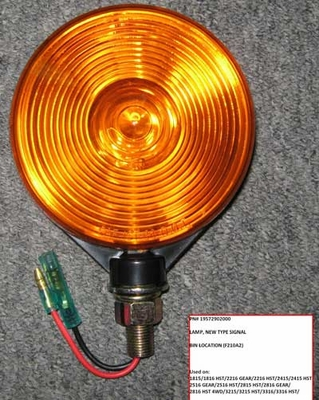TURN SIGNAL LAMP ASSEMBLY FOR 1815 & 1916 MAHINDRA TRACTOR (19572902000)