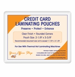 "5 MIL Credit Card Laminating Pouches (2-1/8"" x 3-3/8"")"