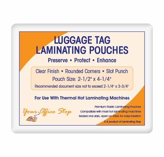 7 mil luggage tag laminating pouches with slot punch 2 12 x 4 14 colourmoves
