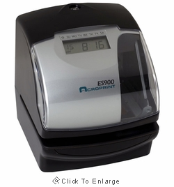 Acroprint ES900 Multi-Function Atomic Time Clock, Time Stamp & Numbering Machine