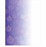 Believe Purple Christmas Ornaments Holiday Printer Paper