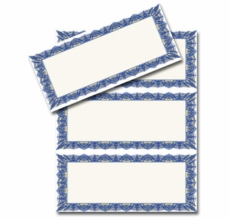 blue 3 up printable gift certificate paper stock