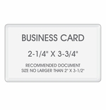 "Business Card Laminating Pouches - Size: 2-1/4"" x 3-3/4"""