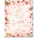 Butterflies and Roses Letterhead & Flyer Paper