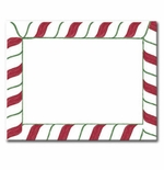 Candy Stripes Christmas Postcards