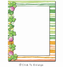 Clover Stripes St. Patrick's Day Printer Paper