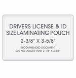 "Drivers License & ID Laminating Pouches - Size: 2-3/8"" x 3-5/8"""