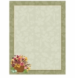 Fall Flower Basket Autumn Border Paper
