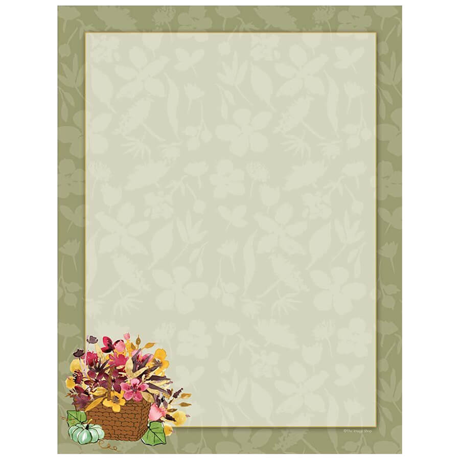 Fall flower basket autumn border paper mightylinksfo