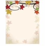 Fall Leaves Vine Autumn Border Paper