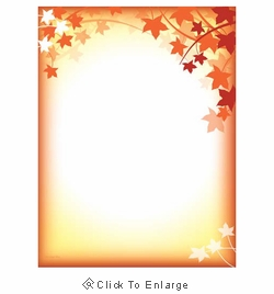 Fall Silhouette Autumn Border Thanksgiving Paper