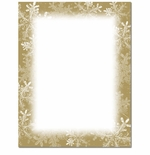 Frosted Holiday Wishes Christmas Holiday Printer Paper