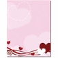Hearts & Swirls Laser & Inkjet Valentine's Day Printer Paper