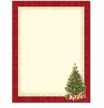 Lacy Christmas Tree Holiday Printer Paper