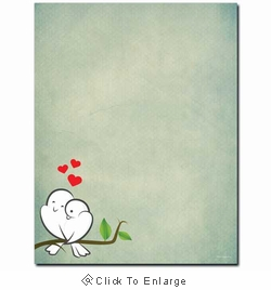 Love Birds Laser & Inkjet Valentine's Day Printer Paper