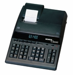Monroe Classic Heavy Duty 12 Digit Desktop Printing Calculator / Adding Machine (Black)