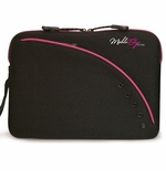"Neoprene 10"" Tablet, iPad, Ultrabook and Netbook Sleeve - Black/Pink"