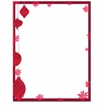 Painted Poinsettia Ornaments Christmas Holiday Printer Paper