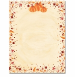 Painted Pumpkins Halloween & Fall Border Paper
