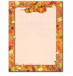 Pretty Fall Pumpkins Autumn Border Paper