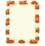 Pumpkin Swirl Fall & Autumn Border Paper