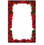 Red Roses 2-Up Invitations & Announcement Paper