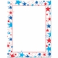 Red White Blue Stars Patriotic Border Paper