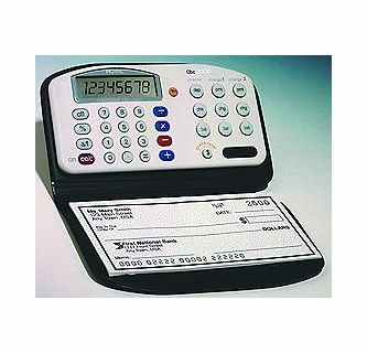 royal electronic checkbook cover with 3 account calculator