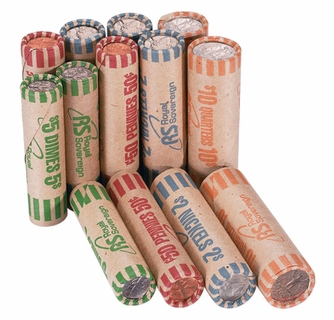 Royal Sovereign Preformed Coin Rolls Wrappers 216 Pack