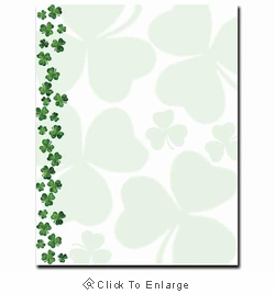 Shamrock Showers St. Patrick's Day Printer Paper