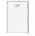 Silver Double Hearts 2-Up Invitations & Announcement Paper