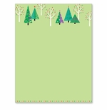 Sparkling Green Christmas Trees Holiday Printer Paper