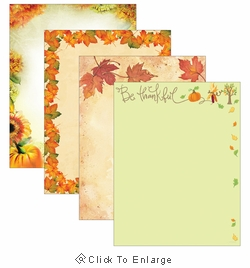 Thanksgiving Border Paper 100 Sheet Variety Pack