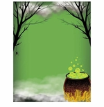Witches Caldron Toil & Trouble Halloween Border Paper