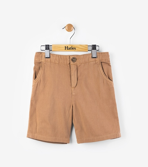 Hatley | Coconut Brown Woven Shorts