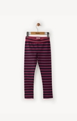 Hatley | Navy & Fuchsia Stripe Leggings