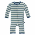 Kickee Pants | Coverall - Boy Perth Stripe