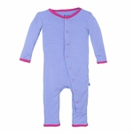 Kickee Pants | Coverall: Forget Me not Flamingo Applique