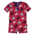 Kickee Pants | Henley Romper: Flag Red Cowboy