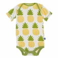 Kickee Pants | Onesie: Natural Pineapple