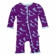 Kickee Pants | Ruffle Coverall - Starfish Jellies