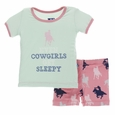 Kickee Pants | Shorts Pj Set: Strawberry Cowgirl