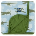Kickee Pants | Stroller Blanket - Pond Airplanes