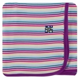 Kickee Pants | Swaddle - Girl Perth Stripe