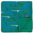 Kickee Pants | Toddler Blanket: Seagrass Whale Shark