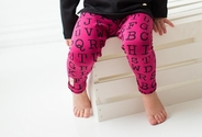 L'BKids | Leggings: Magenta Alphabet