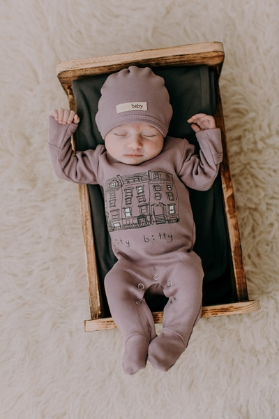 L'ovedbaby | Graphic Footie: Lavender City Bitty